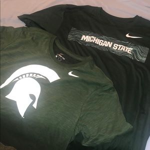 TWO - Michigan State Spartan Dri fit shirts